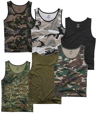 US ARMY TANK TOP BW Armee uni und tarn Shirt Achselshirt Muskelshirt Armyshirt - Armee Tank-top