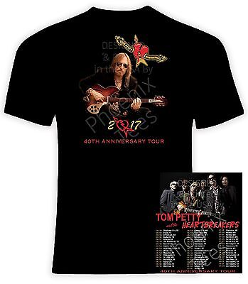 Tom Petty 2017 40th Anniversary Concert T Shirt