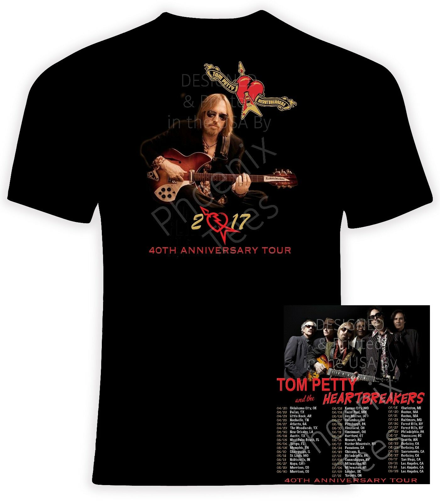 Купить Tom Petty 2017 40th Anniversary Concert T Shirt