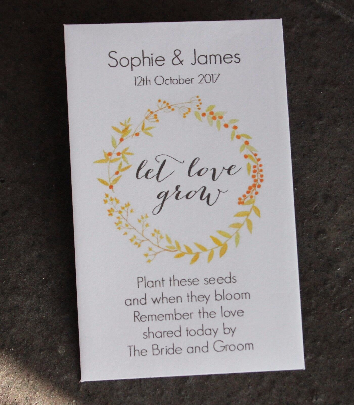 Let Love Grow-Personalised Seed Packets-Envelopes-Wedding Favours ...