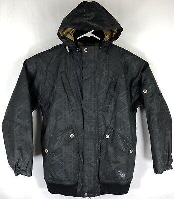 Body Glove Snow Technology Men's Jacket Size M Waterproof Hooded Pockets Black Black Snow Glove