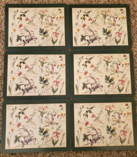 Vintage Pimpernel Royal Horticultural Society Floral Placemats - set of 6