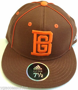 NCAA-Bowling-Green-University-Adidas-Official-Team-Headwear-Fitted-Cap-Hat-NEW