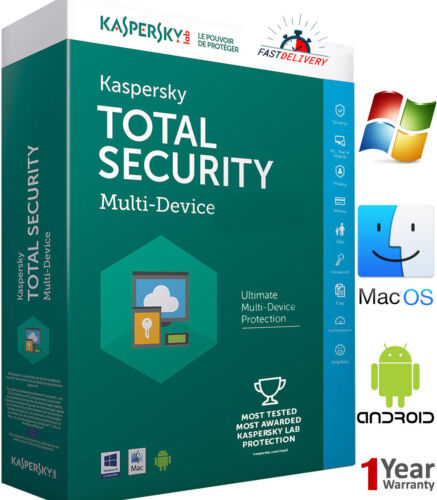 KASPERSKY TOTAL Security 2 Device / 1 Year / Win-Mac-Android