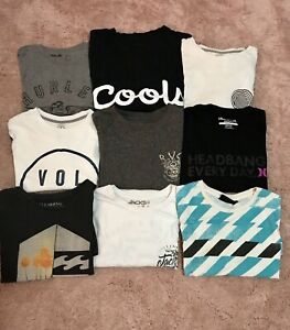 9x men's size small genuine brand Hurley, volcom,billabong t shirts