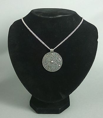 Large Viking Shield Pendant on Chain in Fine Pewter