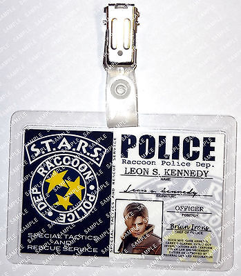 Resident Evil Leon S. Kennedy STARS Character Cosplay Prop Comic Con Halloween