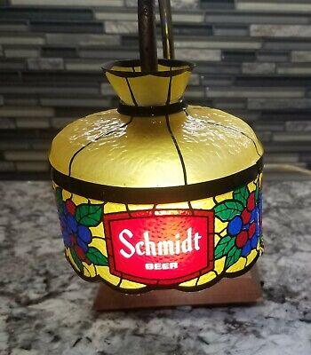 VINTAGE VERY RARE SCHMIDT'S BEER SIGN ADVERTISING LIGHT LAMP.