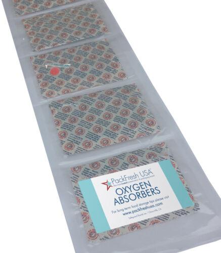 PackFreshUSA 2000cc Oxygen Absorbers Individually Sealed Food-Grade Non-Toxic
