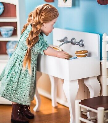 18 Doll Furniture Accessories WOOD VINTAGE STYLE KITCHEN SINK For American Girl