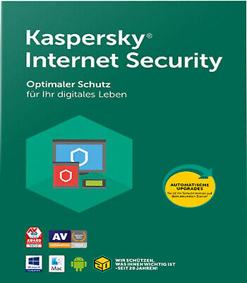 Kaspersky Internet Security 2020 & 2021 • 1PC • 1 Jahr •...