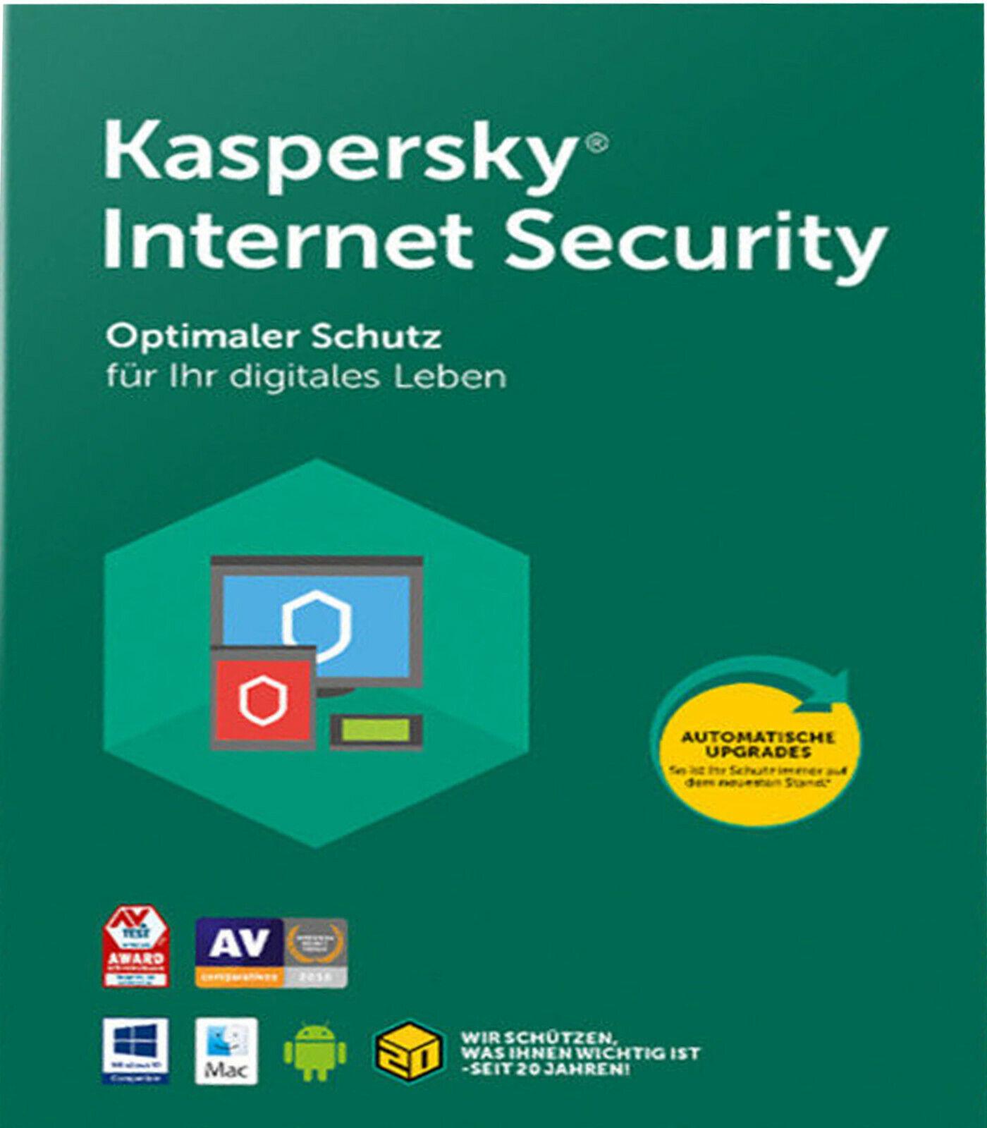Kaspersky Internet Security 2021 • 2020 • 1PC • 1 Jahr • NEU • Rechnung •Deutsch