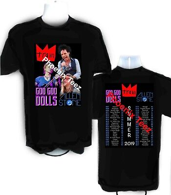 Train Goo Goo Dolls  Allen Stone 2019 Summer 2019 Concert  t shirt  Sizes S-6X