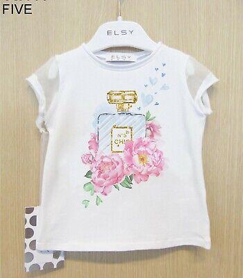 ELSY T-Shirt weiss Parfüm mit Glitzersteinen für Mädchen Elsy Baby Five 6905 Neu (Parfüm Für Mädchen)
