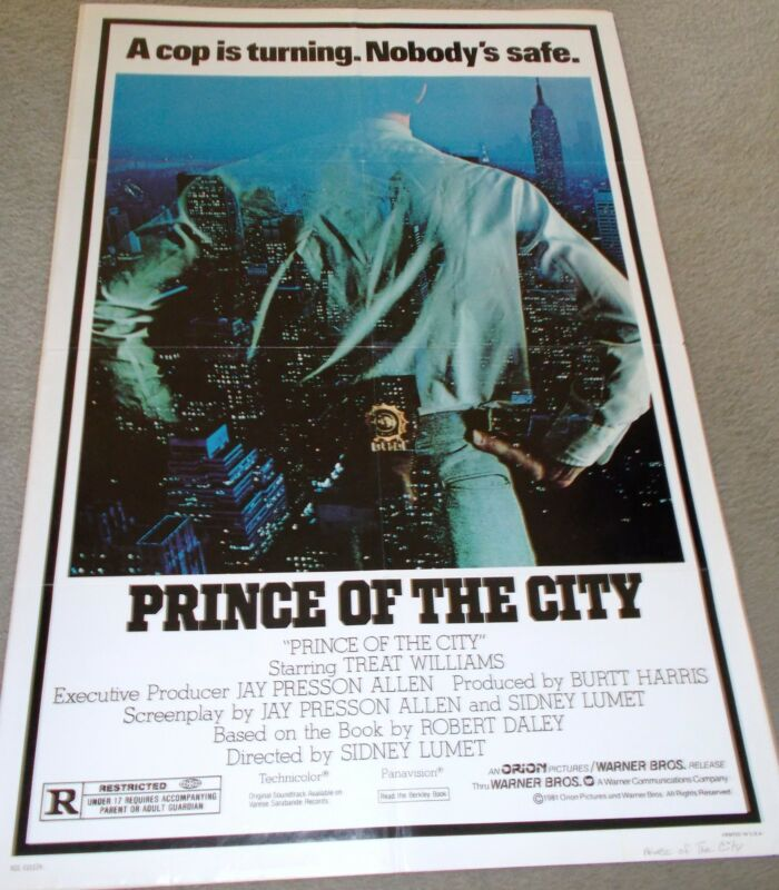 "ORIGINAL MOVIE THEATRE POSTER, ""PRINCE OF THE CITY"" FROM 1981."