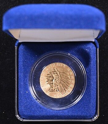 1929 Gold Plated Indian Head $5 Half Eagle Placeholder Coin