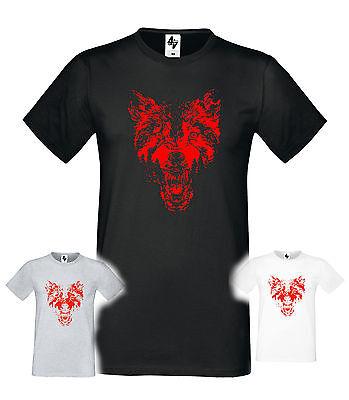 Poland Halloween Costumes (Mens Designer Wolf Fashion Short Sleeve halloween Crew Neck T-shirt)