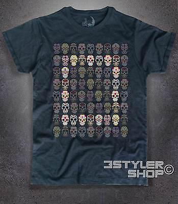 T-shirt uomo TESCHIO skull messicano so Happiness