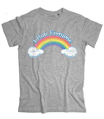 BEARS Ich hasse jeder Teddybären des Herzens Rainbow T-Shirt (Care Bears Erwachsene)
