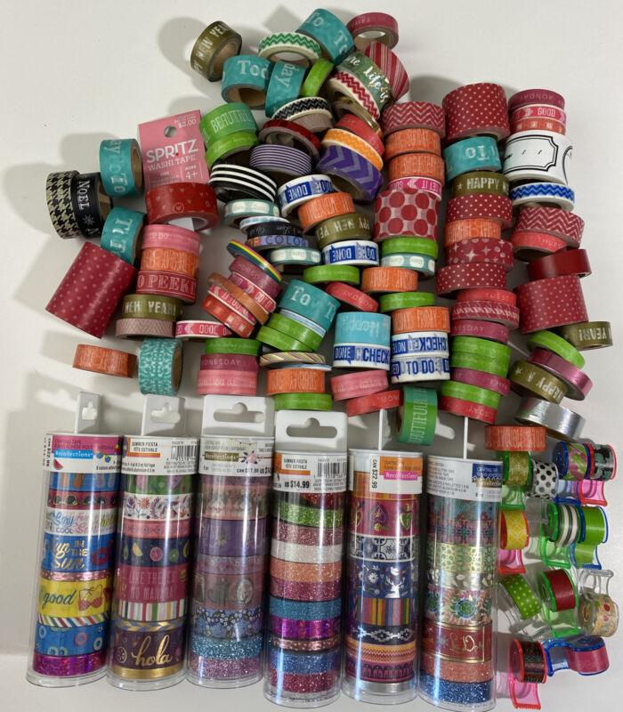 Huge Mixed Lot 185 Rolls Washi Tape Planning Crafting Paper Crafts Recollections
