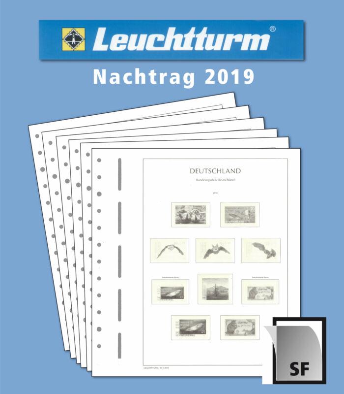 LEUCHTTURM Nachtrag BRD Bund 2019 mit Klemmtaschen 8 Blatt
