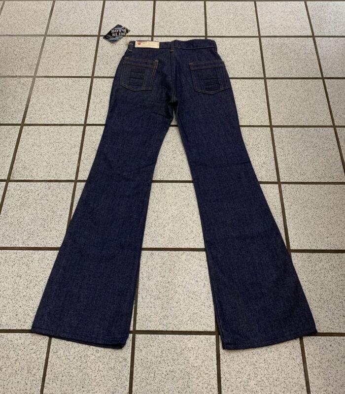 Vintage Boys Jeans Bell Bottom Hippie 26 X 30 Disco Dark Flare 1970s NEW 18 Slim