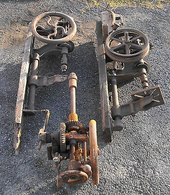 Vtg Antique Cast Iron Champion Buffalo Forge Co Drill Press Parts Repair Lot
