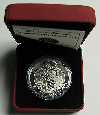 Click now to see the BUY IT NOW Price! 2013 PROOF $20 UNTAMED CANADA 1 ARCTIC FOX .9999 SILVER TWENTY DOLLARS