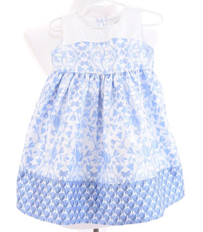 Dressed Up Gymboree Blue Floral Easter Party Dress Toile Formal Girls Sz 2T