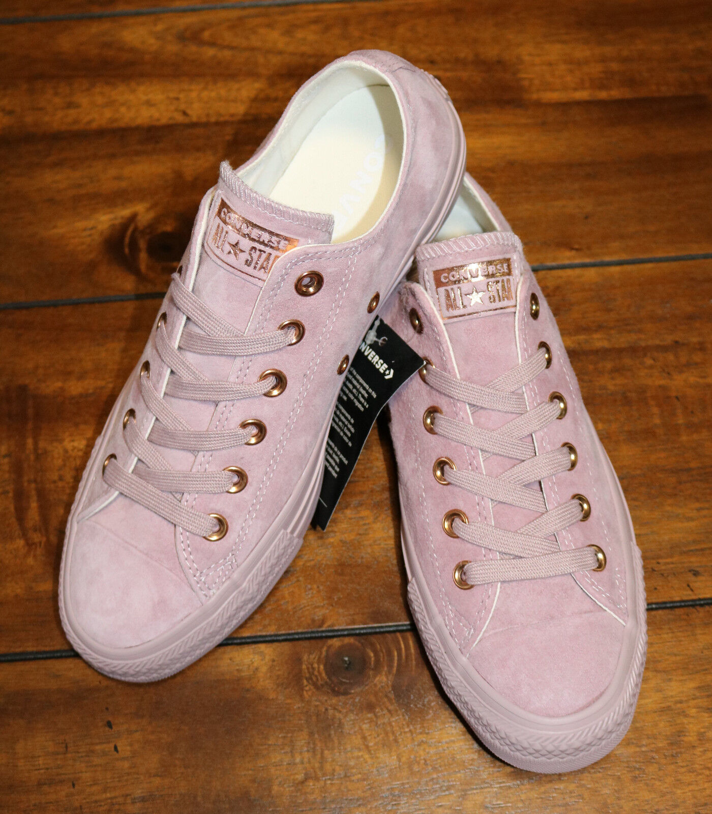 Details about CONVERSE WOMENS CHUCK TAYLOR ALL STAR OXFORD LOW TOP ROSE  GOLD/PINK SIZES 7 8 9