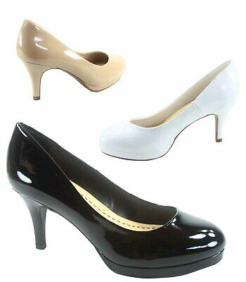 Women's Classic Round Toe Platform Heels Pump Office Shoes Size 5.5 - 11 NEW Womens Round Toe Pump