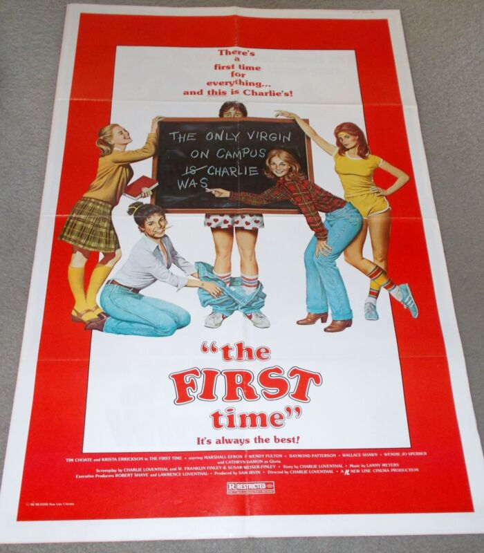 "AUTHENTIC/ORIGINAL 1982 MOVIE POSTER, ""THE FIRST TIME""."