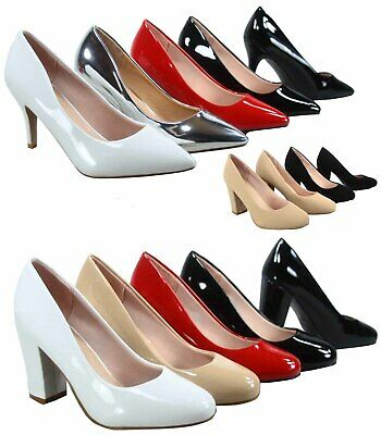 Women's Fashion Pointed Round Toe High Heel Dress Classic Pumps Size 5 - 10 - 5 Heel
