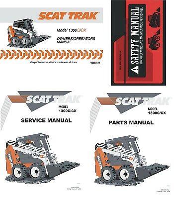 Scat Trak 1300ccx Skid Steer Manual Set