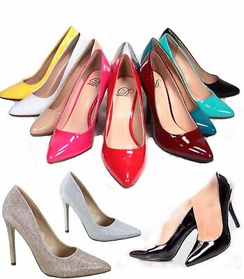 60cbc53a711f8 Women's Sexy Slip On Patent Pointy Toe Stiletto Pumps Shoes Size 5.5 - 11  NEW