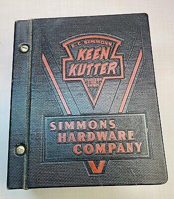 Keen Kutter E.C.Simmons Original Hardware Store Catalog Binder Knife Axe Hatchet