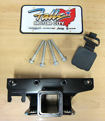 2007-2018 Jeep Wrangler JK 2 Inch Hitch Receiver and Hitch Cover Mopar OEM