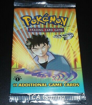 SEALED Gym Heroes 1ST EDITION Booster Pack (Brock Art) Pokemon Cards - LIGHT