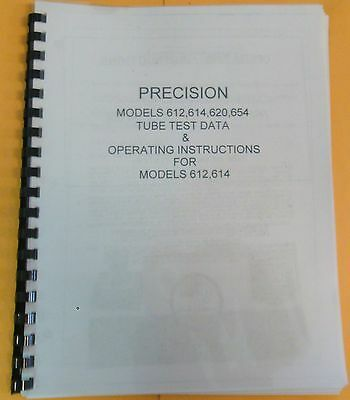 Precision 612614 Instruction Manual  Tube Setup Data 612614620654