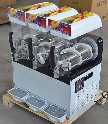3 Tank Snow Frozen Drink Slush Making Machine Commercial Smoothie Ice Maker  for sale  Shipping to Nigeria