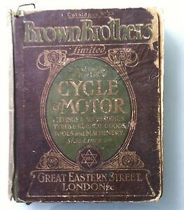 Rare original Brown Brothers veteran motor car cycle bicycle garage catalogue 09