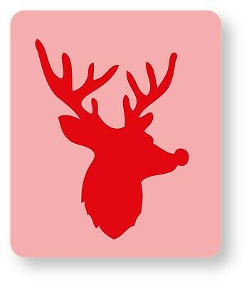Rudolph the Reindeer Face Painting Stencil 6cm x 7cm 190micron Washable Reusable