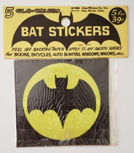 Rare Vintage 1966 Batman Style Bat Stickers Original Package Front/Back PIctured