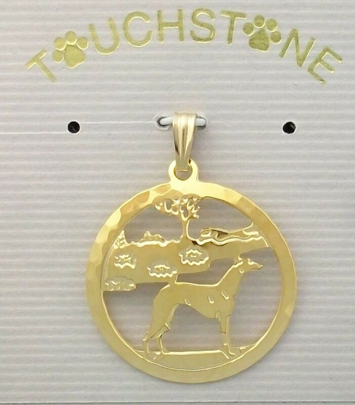 Whippet Jewelry Gold Pendant by Touchstone