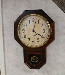 Vintage Seth Thomas Regulator School House Type Clock - Works - 8 Day!