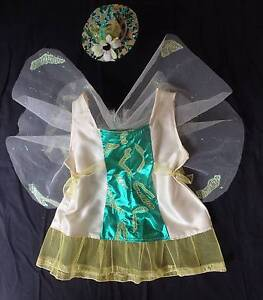 Costume: Tinkerbell Cream & Shimmer Green with Hat - Size 3-4 NEW Greenwood Joondalup Area Preview
