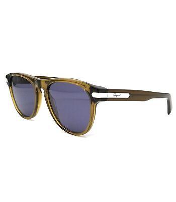Salvatore Ferragamo Sunglasses SF916S 322 Khaki Rectangle Men 55x19x140