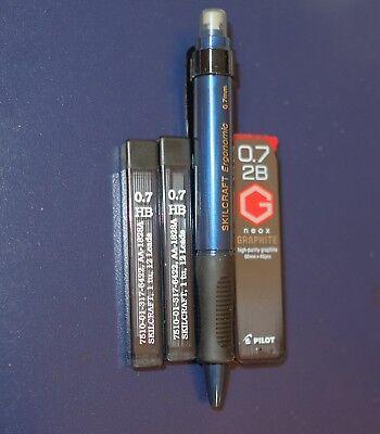 Blue Skilcraft Ergonomic Mechanical Pencil 0.7mm Lead And 2b Pilot Neox