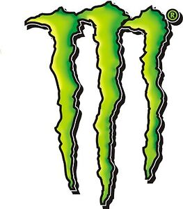 2x MONSTER ENERGY CLAW LOGO STICKER DECAL GRAPHIC AWESOME 100'S SOLD CAR VAN