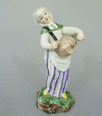 Nymphenburg Figur nach Frankenthal-Modell, Mädchen mit Leier, Modellnr. 1003